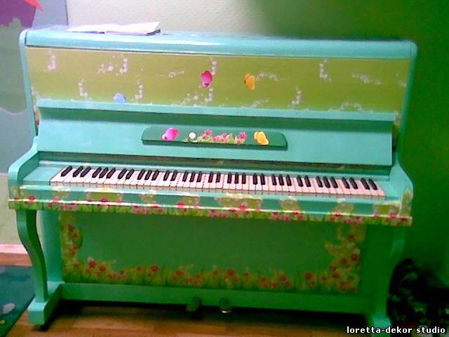 Роспись пианино своими руками 69